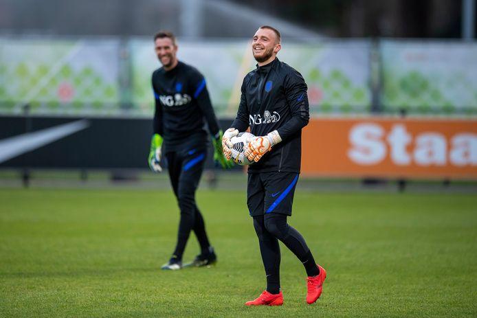 Jasper Cillessen.   Netherlands goalkeeper Jasper Cillessen during the training