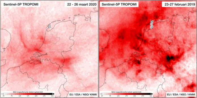 De mooie plaatjes van het KNMI geven geen realistisch beeld voor de kwaliteit van de lucht op leefniveau, zegt het RIVM.