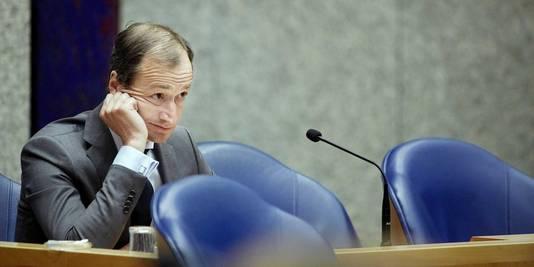 Staatssecretaris Eric Wiebes van Financien tijdens het vragenuur in de Tweede Kamer