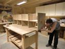 Feico maakt zijn ontwerpen volledig in eigen werkplaats. © Westra Interieur