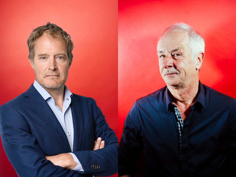 Maarten Veger (links) en Pierre Vyncke. Beeld Stefaan Temmerman