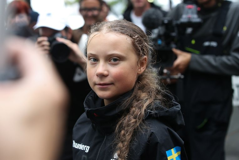 Greta Thunberg. Beeld Anadolu Agency via Getty Images