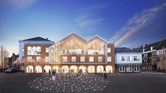 Het ontwerp voor het nieuwe Den Herd aan de Markt in Bladel.