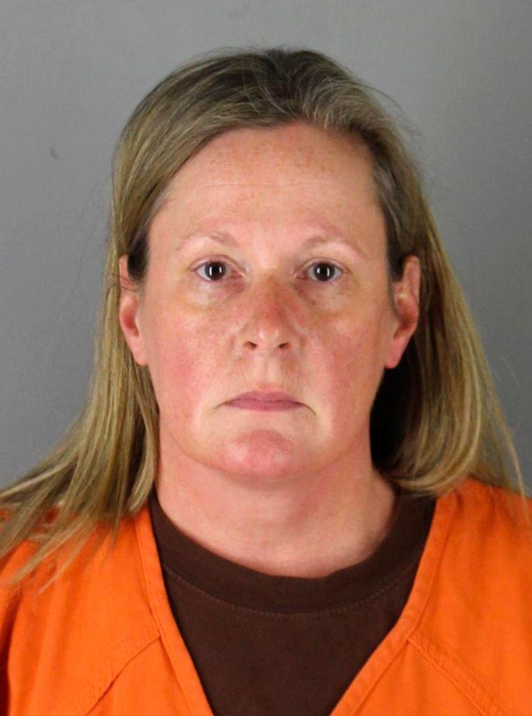 De mugshot van de gearresteerde agent Kim Potter Beeld AP