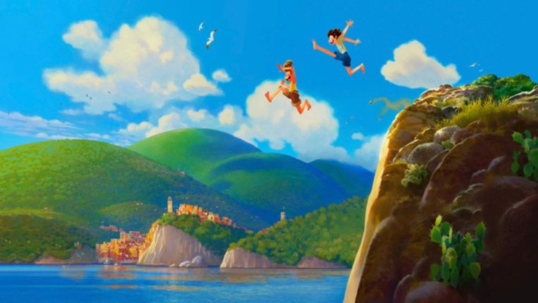 Een beeld uit 'Luca' Beeld Pixar
