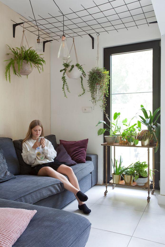 Zonder planten ziet de zithoek er minder cosy uit.