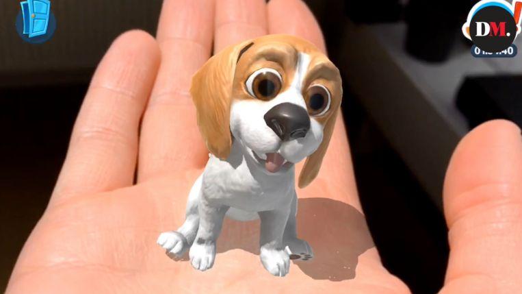 Een hond in AR. Beeld rv