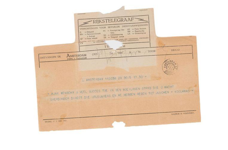 De telegram Beeld Daniël Rommens