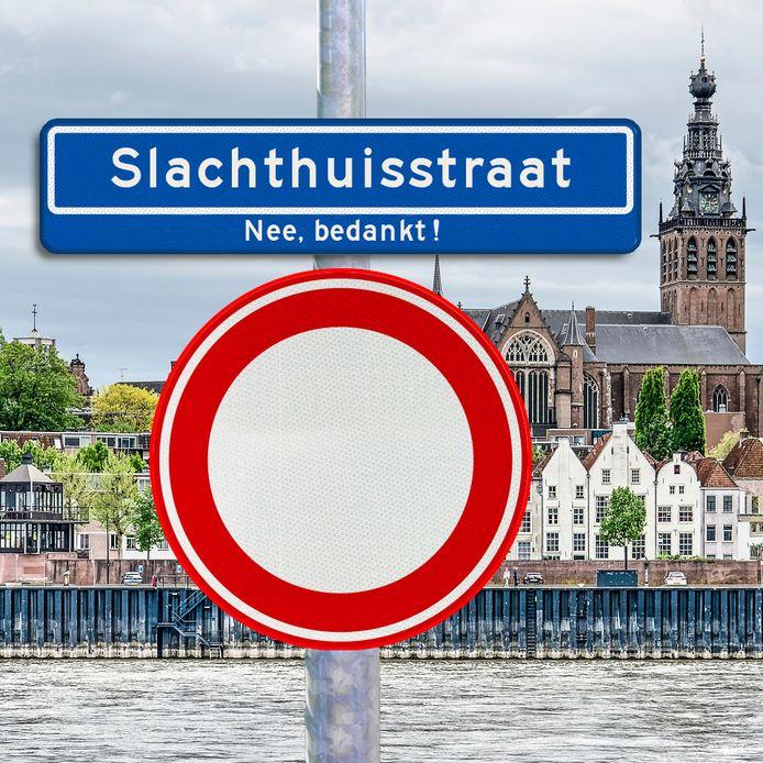 Een Slachthuisstraat in Nijmegen? Een groep Nijmegenaren wil voorkomen dat een nieuwe straat die naam krijgt.