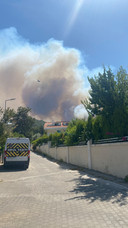De rook die Britt Hendriks vanuit haar buurt kan zien.