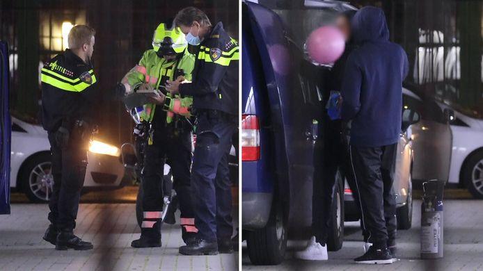De politie volgde eind vorig jaar een auto die slingerend over de A4 reed. De rit eindigde op een industrieterrein aan de Naaldwijkseweg in Wateringen. Daar bleken de inzittenden volop gebruik te maken van lachgas.