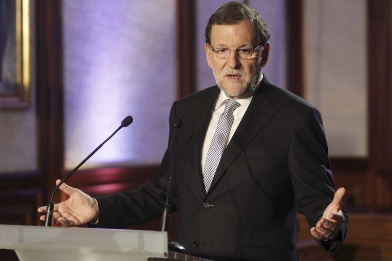 De Spaanse premier Mariano Rajoy. Beeld EPA