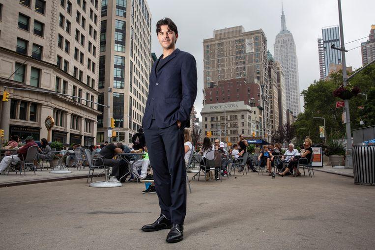 Rob Wijnberg in Madison Square Park, vlakbij zijn kantoor in midtown Manhattan. Beeld Natan Dvir