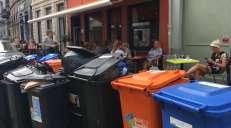 fotoreeks over Zo ligt het centrum van Gent erbij na 3 dagen staking van vuilnisophalers