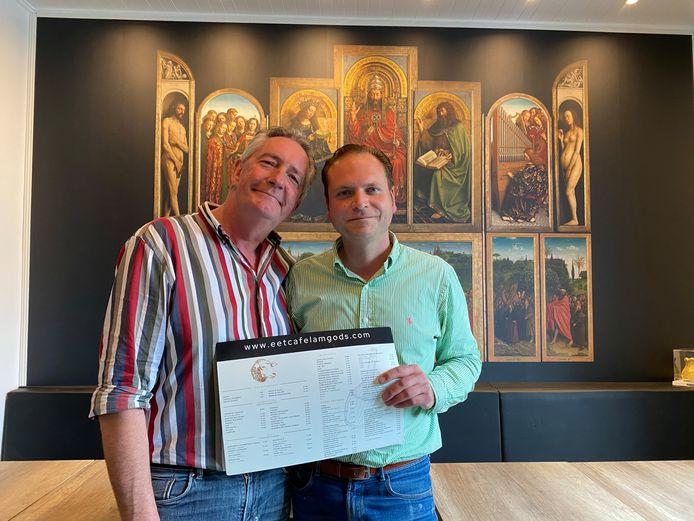 Yves Smet en Marc Bakeland ruilen de grootkeuken van Volvo in voor hun eigen eetcafé Lam Gods op Oordegemdorp.