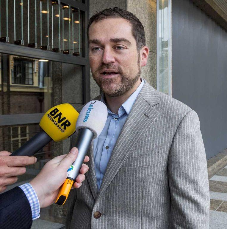 Staatssecretaris van veiligheid en justitie, Klaas Dijkhoff, wilde vandaag alleen kort op de zaak Van der G. ingaan. Beeld anp