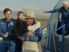 Jongste astronaut Oliver (18) na ruimtetrip van 10 minuten: 'Heel erg bedankt, het was geweldig!'