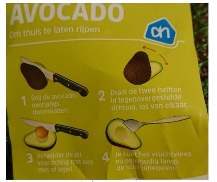 De instructie op de verpakking deugt vaak niet, zoals deze van AH.