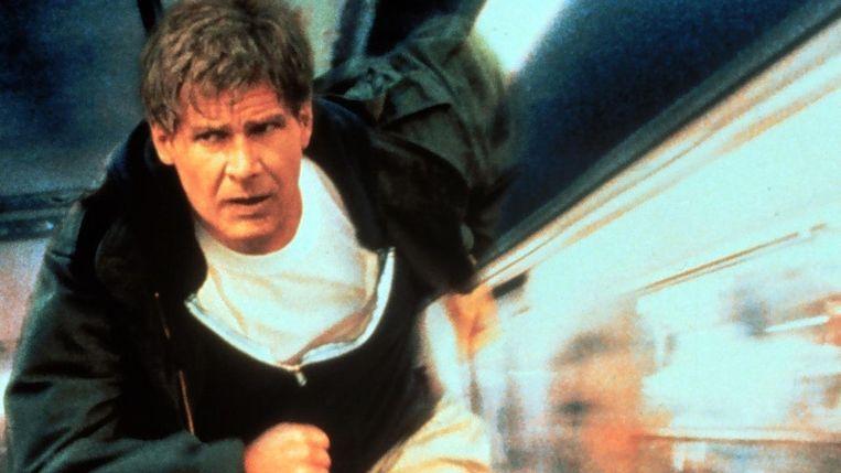 Harrison Ford in The Fugitive van Andrew Davis. Beeld