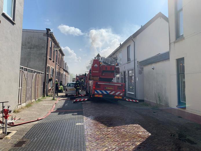 De brand in de Oranjestraat.