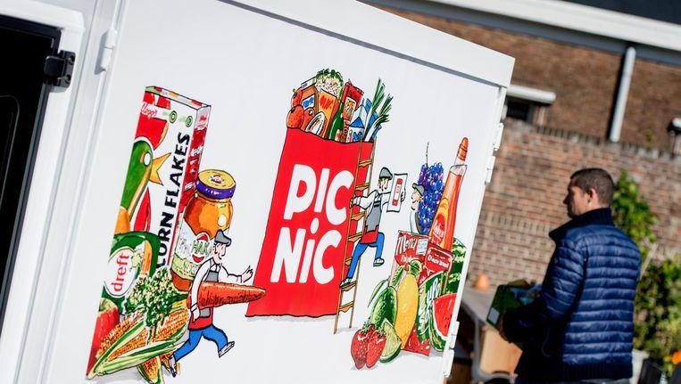 De onlinesupermarkt opent een nieuw distributiecentrum in Diemen. Beeld anp
