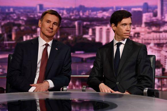Jeremy Hunt (links) en Rory Stewart