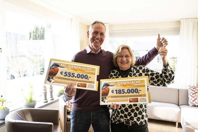 De Zevenhuizense Cor en Elly hebben maar liefst 740.000 euro gewonnen bij Miljoenenjacht.