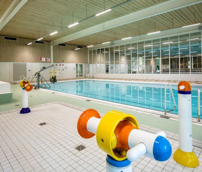 Het instructiebad in het nieuwe zwemcomplex.