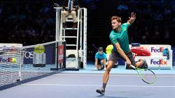 Ondanks deze knappe punten mocht het niet zijn voor Goffin in finale Masters