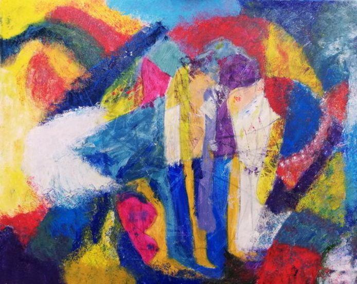 Schilderij van Ria, cursiste bij Beeldkracht
