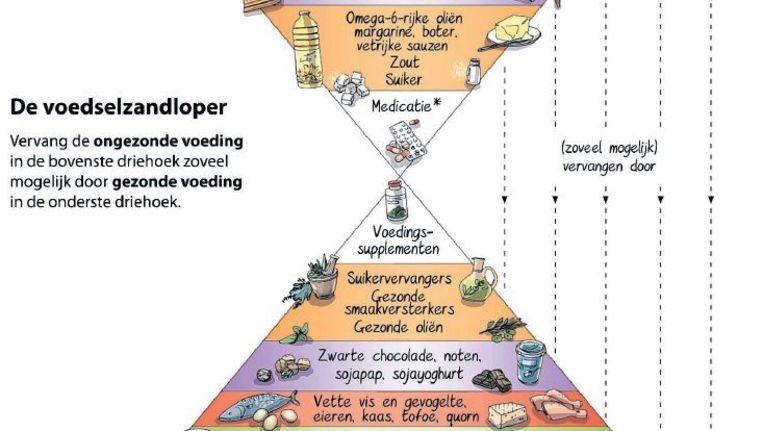Een deel van de voedselzandloper uit het boek van Kris Verburgh. Beeld