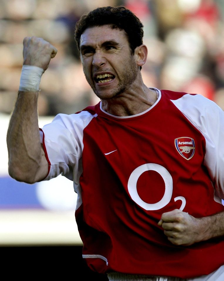 Martin Keown in het shirt van Arsenal.