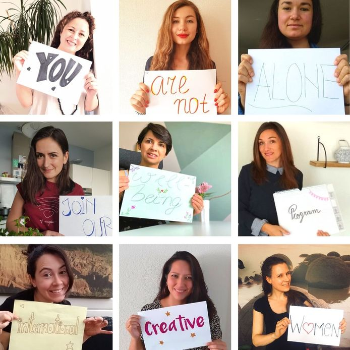 De vrouwen van International Creative Women bieden elkaar nu online ontspannende workshops aan.
