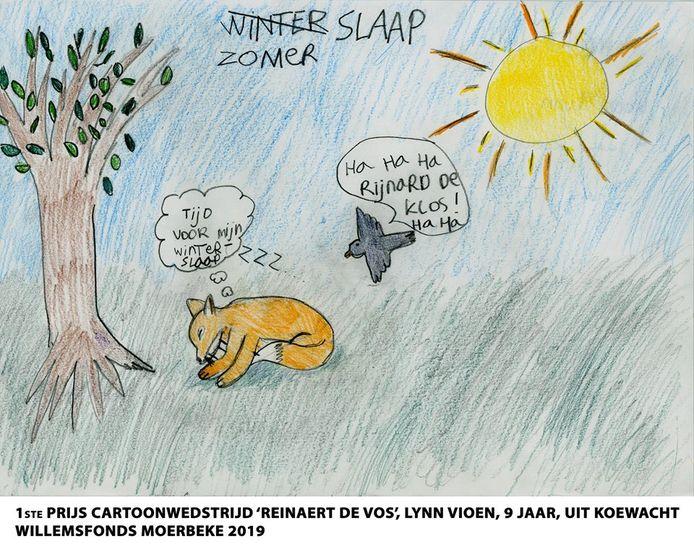 De winnende tekening van Lynn Vioen (9) uit Koewacht.