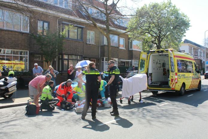 Ongeval met racefietser in Scheveningen