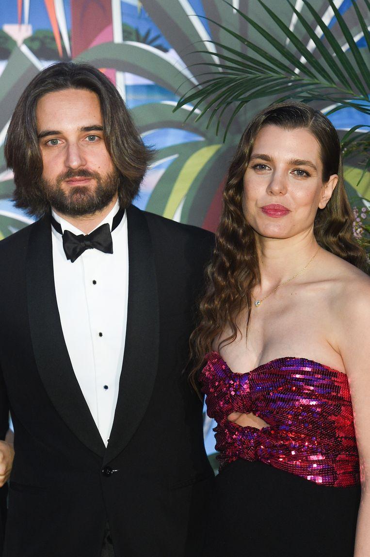 Dimitri Rassam en Charlotte Casiraghi in 2019 Beeld Corbis via Getty Images