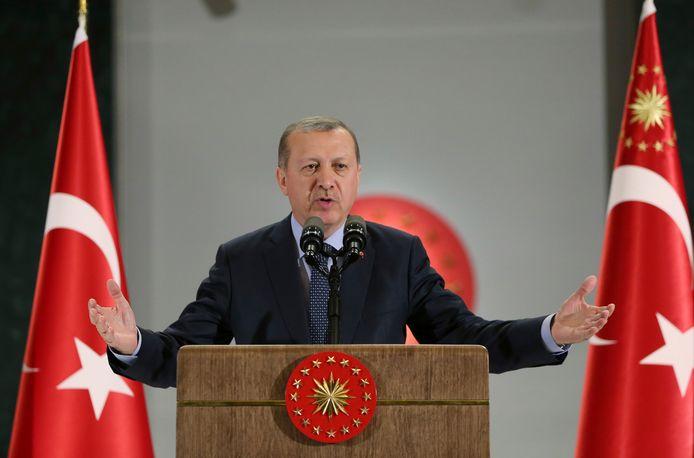 De Turkse president Erdogan
