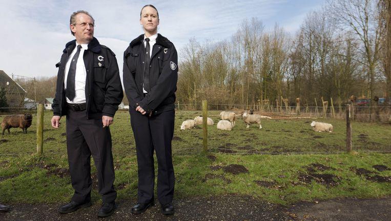 De gemeente Capelle aan den IJssel presenteere eerder dit jaar de twee zogeheten boa's van de gemeente (bijzondere opsporingsambtenaren) die zich inzetten voor het opsporen van dierenleed. Beeld ANP