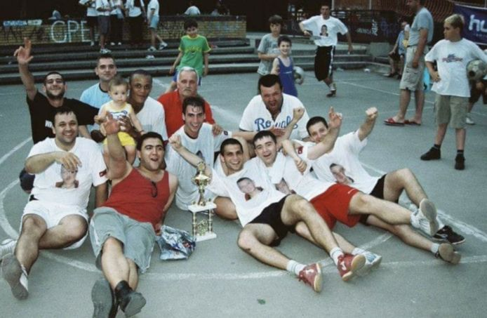 Kompany in Belgrado op het toernooi.