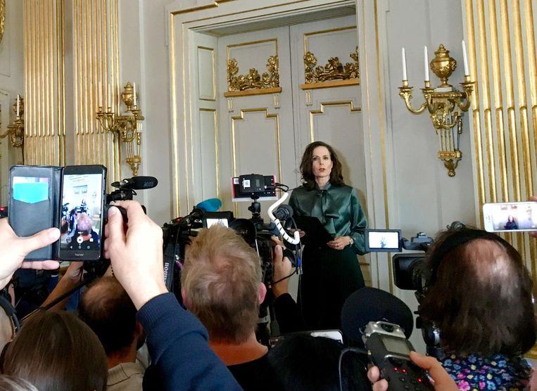Hoofd selectiecomité Nobelprijs voor Literatuur Sara Danius stapte eerder al op na een seksschandaal en interne verdeeldheid. Beeld REUTERS