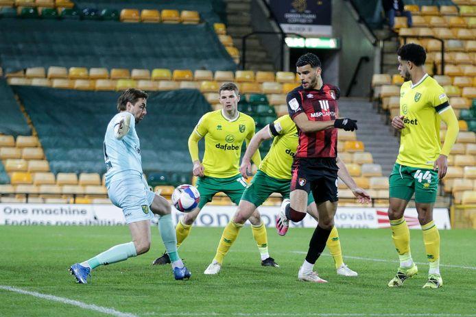 Tim Krul in actie tegen Bournemouth.