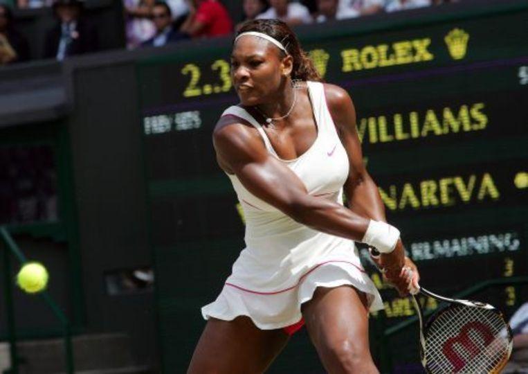 Serena Williams in actie tegen Vera Zvonareva. ANP Beeld