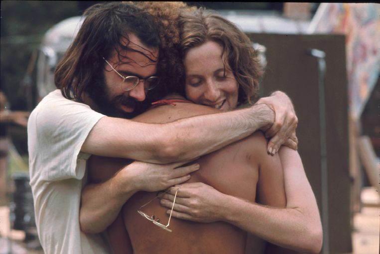 Woodstock 1969, liefde all over the place. Beeld Getty Images