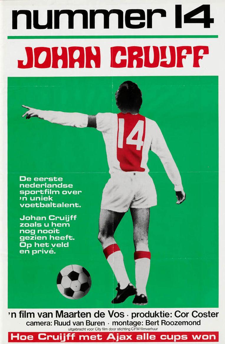 Poster van de film 'Nummer 14', waar Tonny Eyk de muziek voor maakte. Beeld Cor Coster