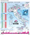 2019-10-24 18:05:16 Etappeschema Giro d'Italia 2020. ANP INFOGRAPHICS