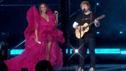 """Verontwaardiging alom wegens outfitkeuze Beyoncé en Ed Sheeran: """"Een perfect voorbeeld van de dubbele standaard"""""""