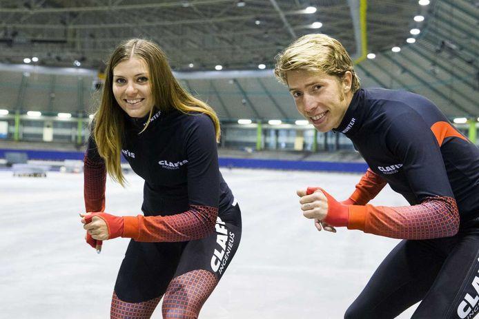 Jorrit Bergsma met zijn vrouw Heather Bergsma-Richardson in 2015.