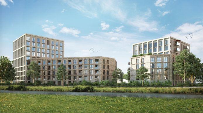 Het wooncomplex met 190 appartementen aan de Sacharovlaan.