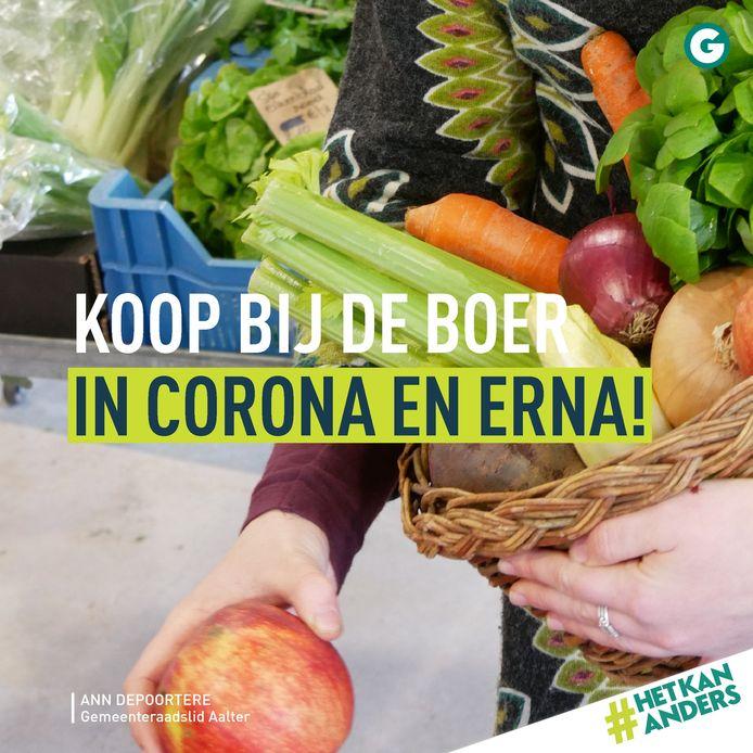 Groen wil iedereen lokaal doen kopen.