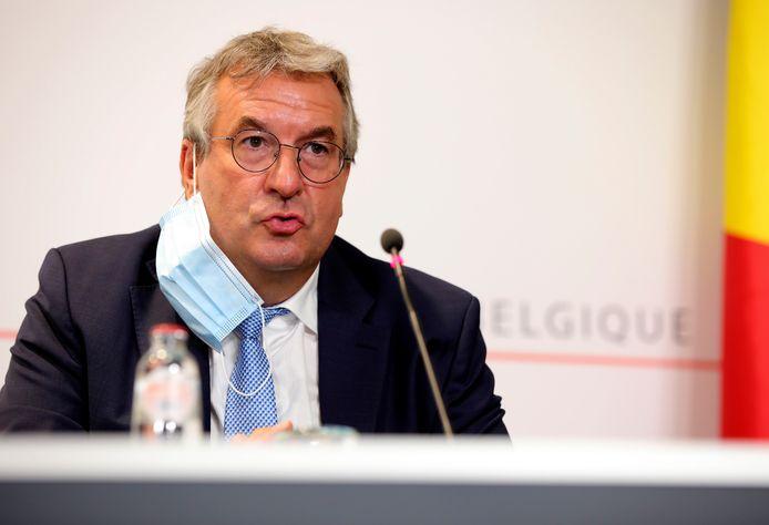 Le ministre-président de la Fédération Wallonie-Bruxelles Pierre-Yves Jeholet (MR)